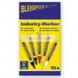 Jelölőfilc készlet ipari BLEISPITZ 0549 10db fehér